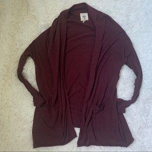 Billabong burgundy drop shoulder cardigan